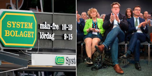 Systembolaget/partisekreterare Gunnar Strömmer i mitten. TT