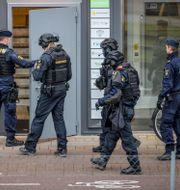 Bild från polisinsatsen på Första långgatan 11 november/Arkivbild. Adam Ihse/TT / TT NYHETSBYRÅN