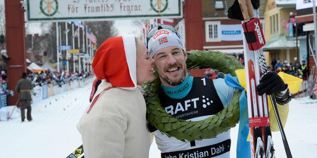 John Kristian Dahl efter målgången. Ulf Palm/ TT / TT NYHETSBYRÅN