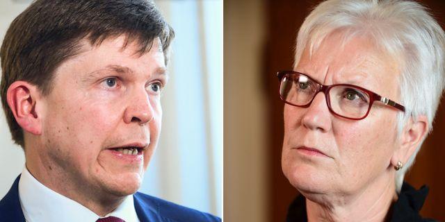 Andreas Norlén och Ås Lindestam.  TT