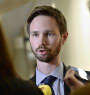 Rasmus Ling (MP).  Claudio Bresciani/TT / TT NYHETSBYRÅN