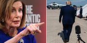 Nancy Pelosi och Donald Trump. TT
