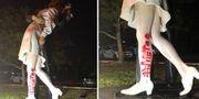 Bild från den vandaliserade statyn. SARASOTA POLICE DEPARTMENT