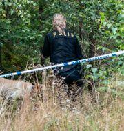 Polisen när man sökte efter Gert-Inge. Johan Nilsson/TT / TT NYHETSBYRÅN