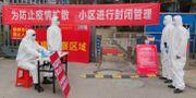Sjukvårdare i Wuhan tar emot människor för tester. CHINA DAILY / TT NYHETSBYRÅN