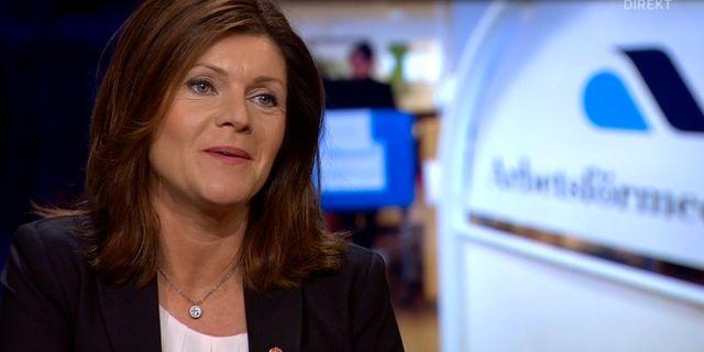 Arbetsmarknadsminister Eva Nordmark. SVT