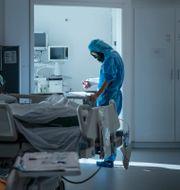 Sjuksköterska.  Staffan Löwstedt/SvD/TT / TT NYHETSBYRÅN