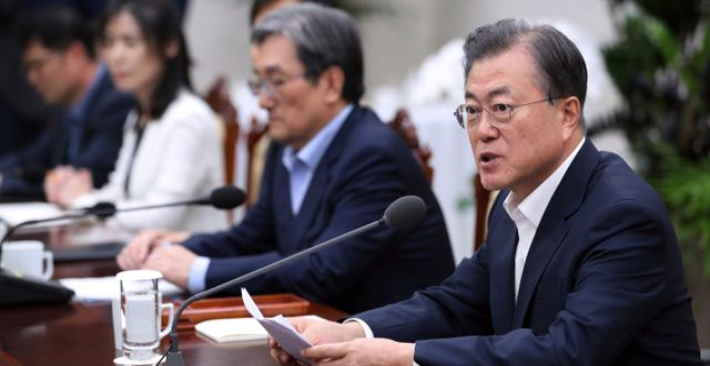Arkivbild. Moon Jae-in i parlamentet i Seoul.  Park Jin-hee / TT NYHETSBYRÅN