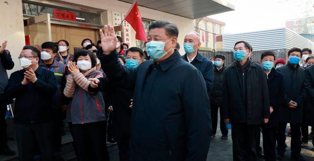 Kinas president Xi Jinping. Pang Xinglei / TT NYHETSBYRÅN