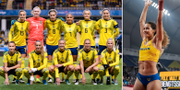 Damlandslaget i fotboll och Angelica Bengtsson. Bildbyrån