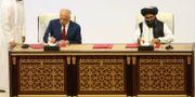 Avtalet skrevs under i Doha i lördags. Hussein Sayed / TT NYHETSBYRÅN