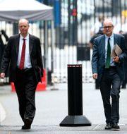 Regeringens medicinska rådgivare Chris Whitty och Patrick Vallance.  Yui Mok / TT NYHETSBYRÅN