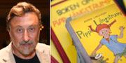 Journalisten Janne Josefsson och tidiga böcker om Pippi Långstrump. TT