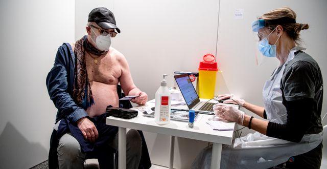 Vaccination i Stockholm. Carl-Olof Zimmerman/TT / TT NYHETSBYRÅN