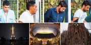 Fyra av de misstänkta Barcelonaterroristerna. Eiffeltornet, Nou Camp och Sagrada Familia. TT