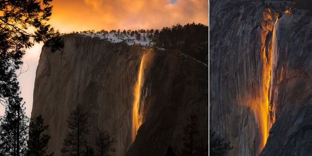 Eldfallet syns bara under ett oar veckor under andra halvan av februari. Shutterstock / Thinkstock