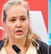 Ida Gabrielsson och Oscar Sjöstedt. TT