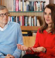 Bill och Melinda Gates/Donald Trump. TT