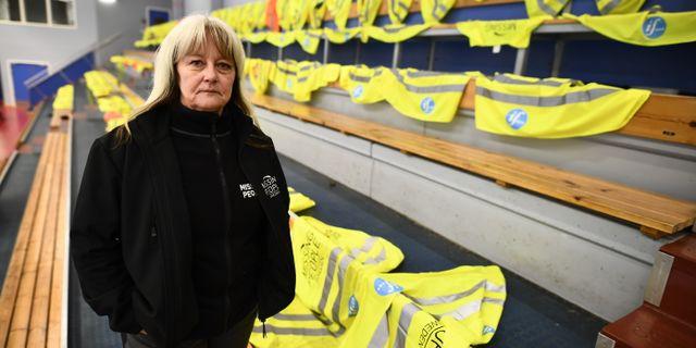Tessan Jigfjord, operativ chef på Missing People, söker efter pojken. Suvad Mrkonjic/TT / TT NYHETSBYRÅN