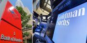 Arkivbilder: Bank of America och Goldman Sachs. TT