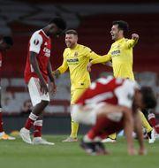 Villarreal och Arsenal.  Alastair Grant / TT NYHETSBYRÅN