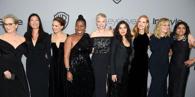 Vid förra årets gala klädde sig många i svart för att uppmärksamma #metoo.  Chris Pizzello / TT NYHETSBYRÅN/ NTB Scanpix