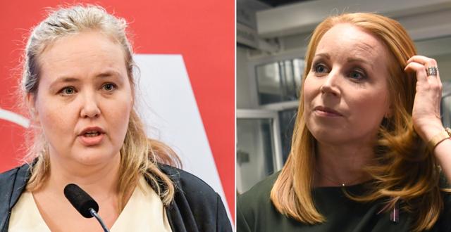 Ida Gabrielsson (V, Annie Lööf (C) TT