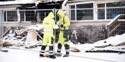 Näsbylundens förskola i Täby har brunnit under natten Marko Säävälä/TT / TT NYHETSBYRÅN