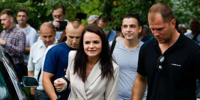 Svetlana Tichanovskaja.  Sergei Grits / TT NYHETSBYRÅN