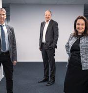 LKAB:s vd Jan Moström, SSAB:s vd Martin Lindqvist och Vattenfalls vd Anna Borg.  Fond&Fond