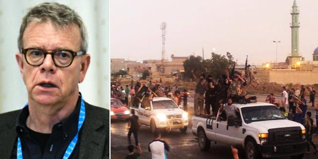 Thomas Ahlstrand/bild på IS-parad i Mosul 2014. TT