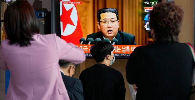 Nordkoreas diktator Kim Jong-Un. Ahn Young-joon / TT NYHETSBYRÅN