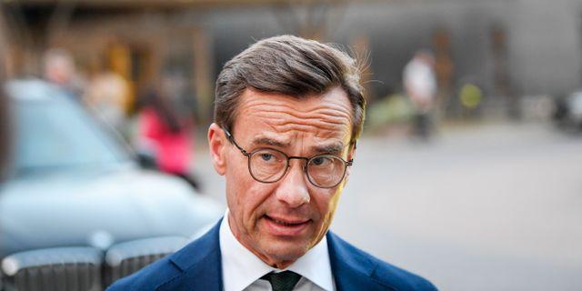 M-ledaren Ulf Kristersson. Jonathan Näckstrand/TT / TT NYHETSBYRÅN