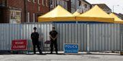 Polisen arbetar efter förgiftningen i brittiska Amesbury. Rod Minchin / TT / NTB Scanpix