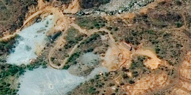 Satellitbilder över Punggye-ri, Nordkorea anläggning för kärnvapentester. TT / NTB Scanpix