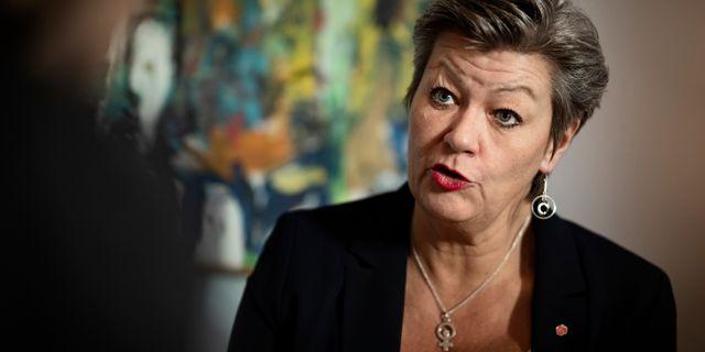 Ylva Johansson (S). Naina Helén Jåma/TT / TT NYHETSBYRÅN