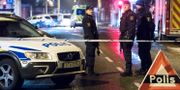 Polisavspärrningarna i Ängelholm, natten mot söndagen. Johan Nilsson/TT / TT NYHETSBYRÅN