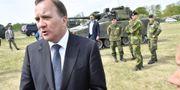 Stefan Löfven invigde det nya regementet Jonas Ekströmer/TT / TT NYHETSBYRÅN
