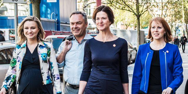 Alliansledarna. Yvonne Åsell / SvD / TT / TT NYHETSBYRÅN