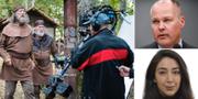 Tv-inspelning, Morgan Johansson (S) och Lawen Redar (S). TT/Riksdagen