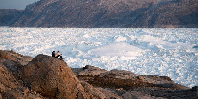 Glaciär på Grönland. Felipe Dana / TT NYHETSBYRÅN