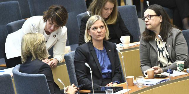 Magdalena Andersson. Claudio Bresciani/TT / TT NYHETSBYRÅN