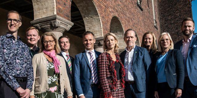 Den grönblå majoriteten i Stockholm  Malin Hoelstad/SvD/TT / TT NYHETSBYRÅN