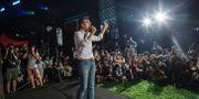 Arkivbild: Leung talar vid ett möte 2016 ANTHONY WALLACE / AFP