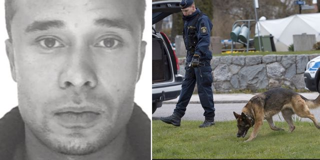 Kristofers Kastellanoss / Polisen söker efter spår i samband med rymningen. Interpol / TT.