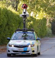 Google-bil kartlägger för tjänsten Google street view. Arkivbild. Paul Sakuma / TT NYHETSBYRÅN