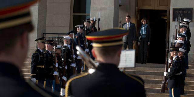 USA:s försvarsminister Mark Esper.  Jose Luis Magana / TT NYHETSBYRÅN