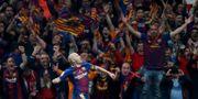 Iniesta jublar efter sitt 4–0-mål. Susana Vera / TT NYHETSBYRÅN