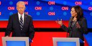 Joe Biden och Kamala Harris under nattens debatt. Paul Sancya / TT NYHETSBYRÅN/ NTB Scanpix