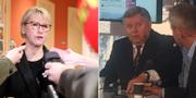 Utrikesminister Margot Wallström (S) och Rysslands  Sverigeambassadör Viktor Tatarintsev. TT/Omni